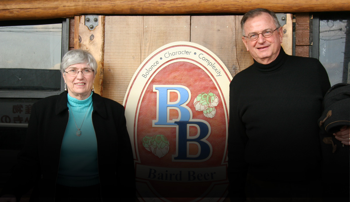Jay & Sally Baird visiting Son's Japan Brewery for the very first time.